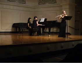 Flutist Performing at Mannes